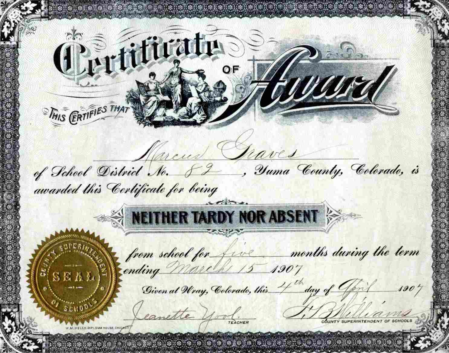Yuma co online genealogical data marcus graves certificate 1907 1betcityfo Gallery